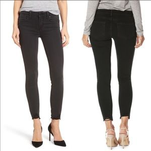 [Paige] Verdugo Ankle Jean in Black Fog Distressed